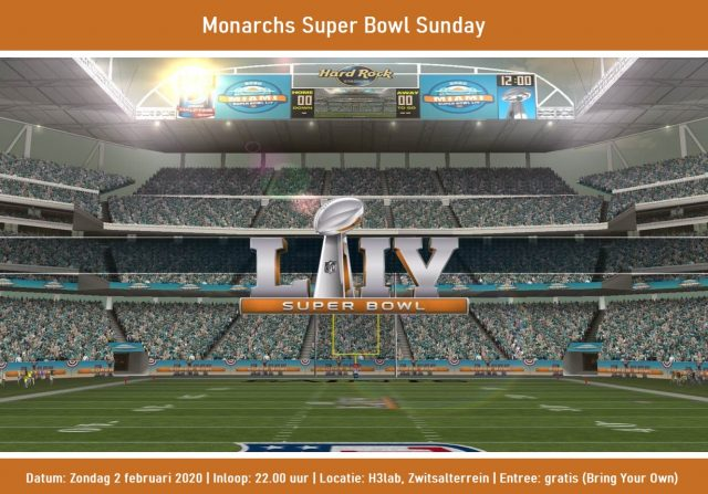 Midwintermarathon en Monarchs Super Bowl Sunday